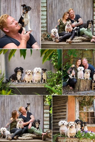Multiple Pets Family – Outdoor Studio